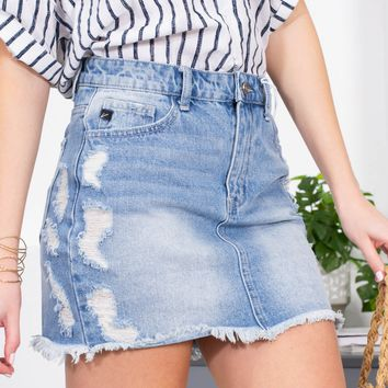 Tasty Boardwalk Distressed Skirt