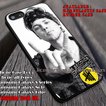 Rock me, ashton irwin, punk rock, 5sos, 5 Second of Summer, case/cover for iPhone 4/4s/5/5c/6/6+/6s/6s+ Samsung Galaxy S4/S5/S6/Edge/Edge+ NOTE 3/4/5 #music #5sos ii