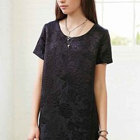 Silence + Noise Boxy Jacquard Tee Dress-