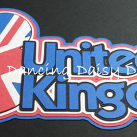 UNITED KINGDOM UK Flag Disney Epcot Mickey Mouse Ears Title paper piecings die cut title for scrapbook