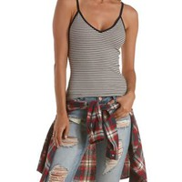 Cropped Striped Tank Top by Charlotte Russe
