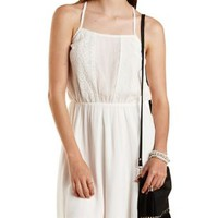 White Lace & Gauze Sundress by Charlotte Russe