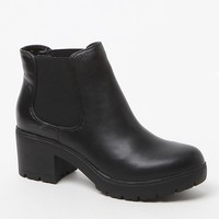 Steve Madden Romman Faux Leather Booties - Womens Boots - Black