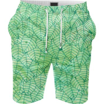 Green foliage Summer Short