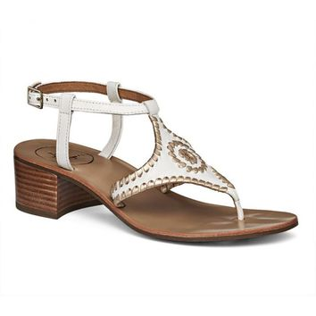Elise Sandal in White and Platinum by Jack Rogers - FINAL SALE