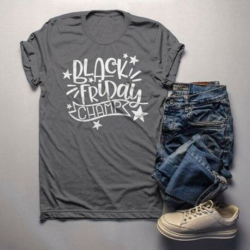 Men's Black Friday T Shirt Black Friday Champ Shirts Shopping Tee