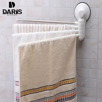 SDARISB Creative Quality Sucker Bathroom Towel Rack Wall Removable Towel Rack Towel Shelf Rotate Four Towel Bar Family Equipment