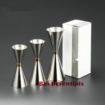 304 stainless steel Mr Slim Jigger Measuring cup gold ring cup bar bartender jiggers