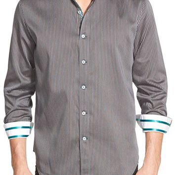 Men's Robert Graham 'Nicholson' Tailored Fit Stripe Sport Shirt,