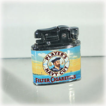 Players Navy Cut Filter Cigarettes Lighter Tobacciana Collectibles Smoking Memorabilia