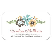 Cute profile card with pretty flowers