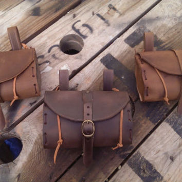 Medieval Leather Tobacco bag / Belt Pouch