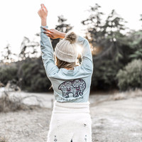 Perfect Fit Pale Sky Mosaic Tee