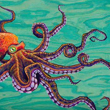 Tentacles Painting by Emily Brantley - Tentacles Fine Art Prints and Posters for Sale