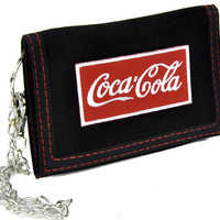 Coke Cola Soda Pop Tri-fold Wallet with Chain Alternative Clothing