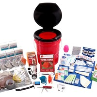 5 Person Deluxe Home and Office Survival Kit - 1-800-Prepare