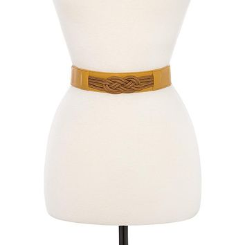 Infinity rope knot stretch belt