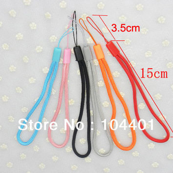 free shipping 50pcs/lot New Wrist Hand Cell Phone Mobile chain straps keychain Charm Cords DIY Hang Lanyard