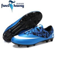 FANCIHAWAY Men Professional AG Soccer Cleats Breathable Outdoor Sport Football Shoes Trainer Women Race Sneakers
