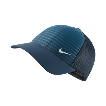 Nike Legacy Printed Mesh Fitted Golf Hat Size Large/XL (Blue)