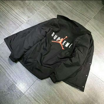 Supreme Jordan Coaches Black Jacket I-JJ-LHYCWM