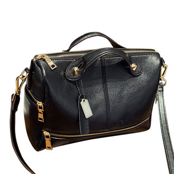 Vegan Leather Women's Work Tote with Removable Crossbody Strap