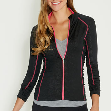 performance jacket with ruching