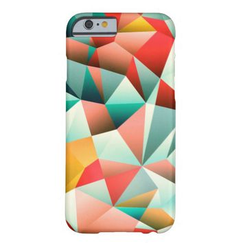 Colorful Modern Abstract Geometric Pattern Barely There iPhone 6 Case