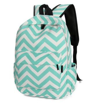 Sweet Stripe Pattern Canvas Rucksack Backpack
