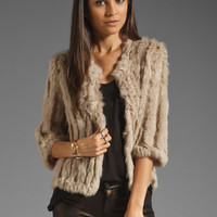 heartLoom Rosa Fur Jacket in Sand from REVOLVEclothing.com