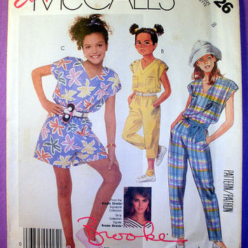 Easy Girl's Jumpsuit Size 8 Brooke Shields Signature Collection McCall's 3126 Sewing Pattern Uncut