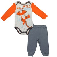 Winnie the Pooh Baby Boys' Tigger Wild Child Creeper and Pants Set