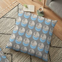 'Negative Circles Collage' Floor Pillow by by-jwp
