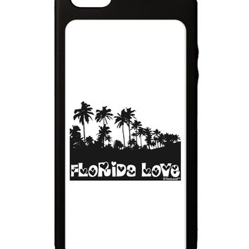 Florida Love - Palm Trees Cutout Design iPhone 5C Grip Case  by TooLoud