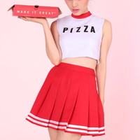 Glitters For Dinner — MADE TO ORDER - Team Pizza Cheer Set (Top and Skirt)