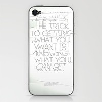 The Trick Phone Skin by wordboner | Society6