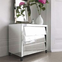 50's-Style Mirrored Chest of Drawers - 50's Style Mirrored - View Our Collections - Furniture