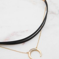 Madi Choker - Black + Gold