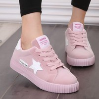 Autumn Fashion Platform Sneakers Women Trainers Pink Vulcanized Shoes Basket Femme Ladies Casual Shoes Flat Zapatillas Mujer