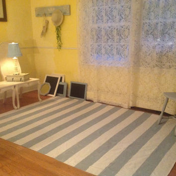 Rug, Area Rug, floor rugs, floor mat, drop cloth, hand painted 6x9, stripe Chevron, hand painted in Chalk Paints, ascp, cottage, shabby chic