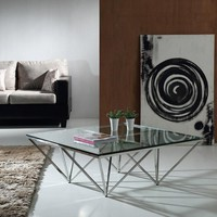 Modrest Newark Contemporary Glass Coffee Table
