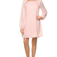 I Like The Way You Move Shift Dress - Blush