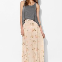 One Teaspoon Feather Rose Maxi Skirt - Urban Outfitters
