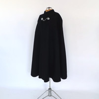 Vintage 1950s British Constabulary Cape Mens Navy Blue Wool Cape Admiral Police Cape Cloak Winter Overcoat London Nautical Military Cape