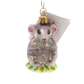 Christopher Radko WHISKERS Glass Mouse Christmas 993690