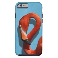 Flamingo Closeup with Curved Neck Tough iPhone 6 Case