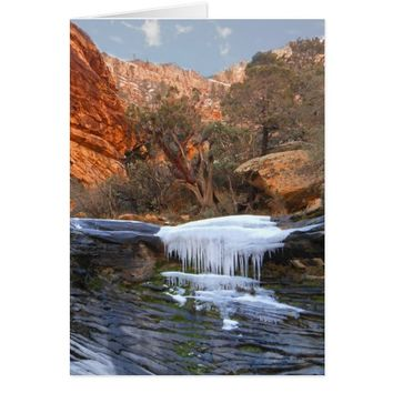 Frozen Waterfall, Las Vegas, NV, Blank Inside Card