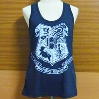 Cute workout shirt — Hogwarts school/ Harry Potter/ sleeveless top/ racer back/ singlet/ t shirt/ sport clothes