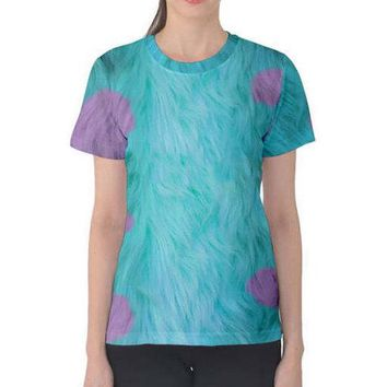 Women's Sulley Monsters Inc Inspired ATHLETIC Shirt