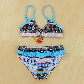 DCCK7N3 Baby Swimwear Girl 2 Pieces Girls Bikini set 8-16 Y Kids Swimming suit Children bathing suit Summer beach wear sw0702